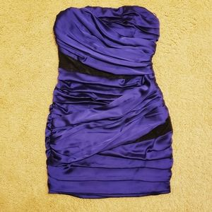 Express Purple Ruched Bodycon Mini Cocktail Dress